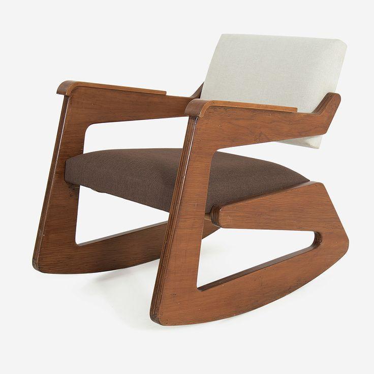 Lina Bo Bardi Cadeira de balanço Compensado Década de 1950