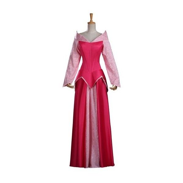 Cosrea Disney Sleeping Beauty Aurora Brocade Pink Adult Cosplay... ($130) ❤ liked on Polyvore featuring costumes, pink halloween costumes, adult sleeping beauty costume, cosplay costumes, adult costumes and sleeping beauty
