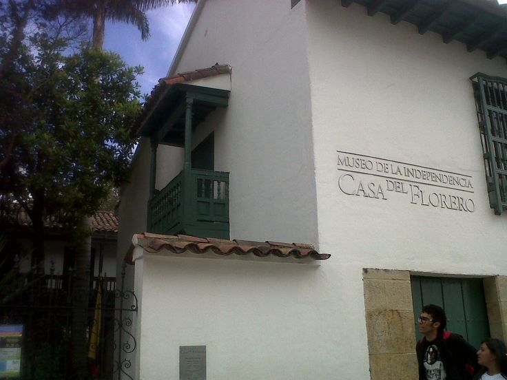 Balcón posterior del Museo de la Independencia, antigua Casa del Florero, Plaza de Bolívar, Bogotá-Colombia.
