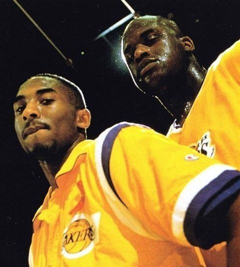 The best 1-2 punch in NBA history! #losangeles#lakers#shaq#kobebryant#blackmamba#vino
