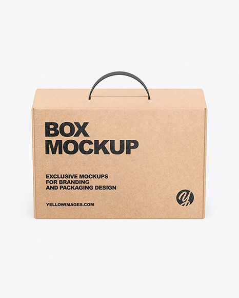 Download Kraft Box Mockup In Box Mockups On Yellow Images Object Mockups Design Mockup Free Box Mockup Free Psd Design