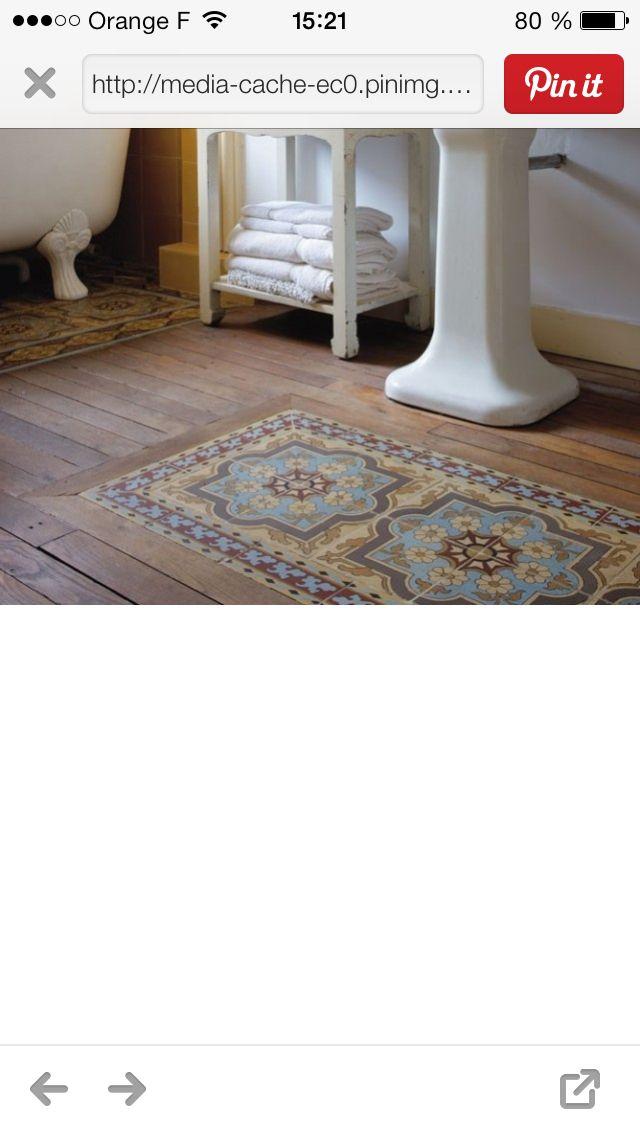67 best deco carreaux de ciment images on pinterest cement tiles tiles and - Carreaux ciment patchwork ...