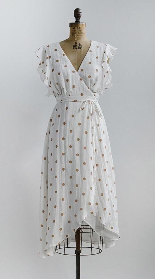 Vintage Inspired Dresses / Feminine Vintage Modern / Coins in the Fountain Dress