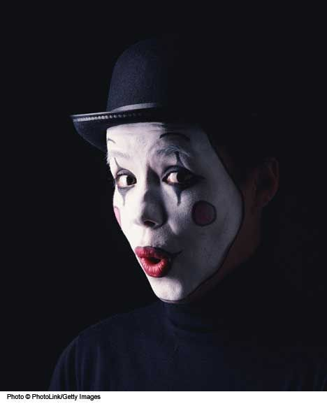 mime clowns   Face Painting Designs: Mime