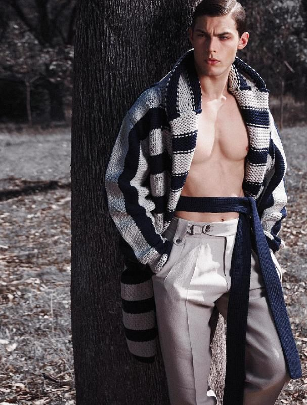 Total look Ermenegildo Zegna Couture SS15 on Koncierge Magazine, Dec 2014 issue