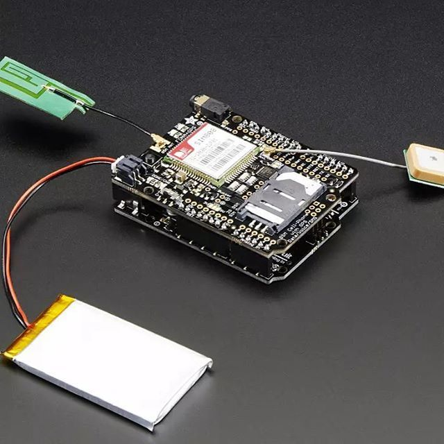 Cellular + GPS tracking, all in one, for your Arduino? Oh yes! Introducing Adafruit FONA 808 GSM + GPS Shield, an all-in-one cellular phone module with that lets you add location-tracking, voice, text, SMS and data to your project, in Arduino shield format for easy use.  Www.adafruit.com/product/2636 #fona #adafruit