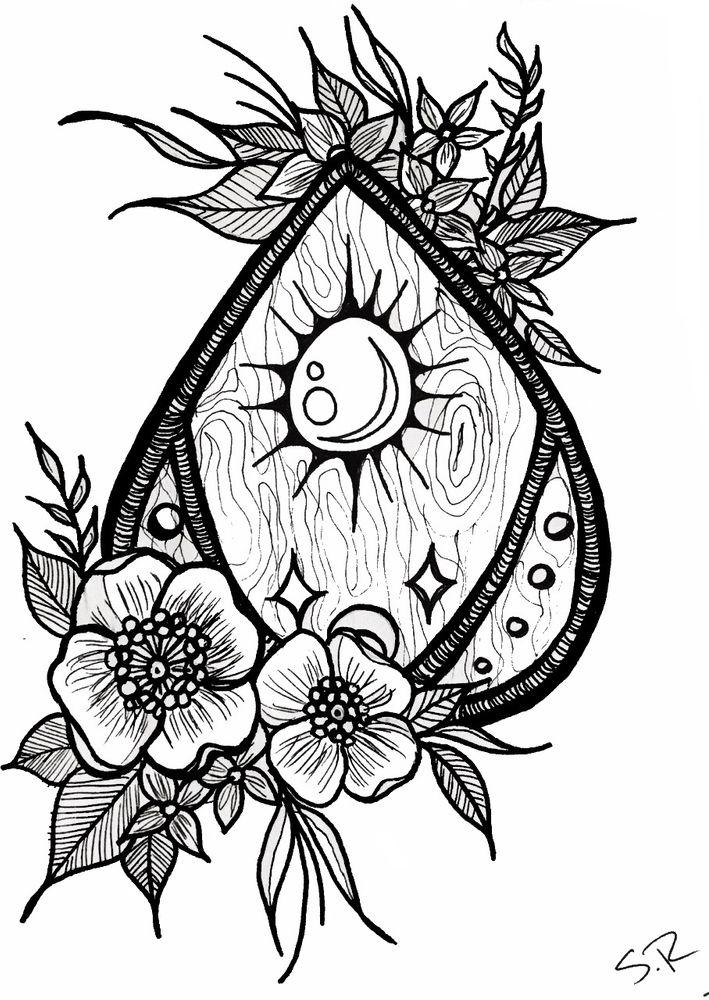 Floral Planchette Art Print By Steph Marie X Small Body Art Tattoos Art Prints Planchette