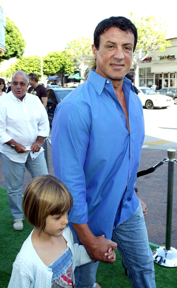 sylvester stallone  with his cutie..