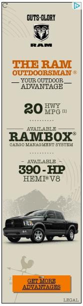 Ram outdoorsman banner ad