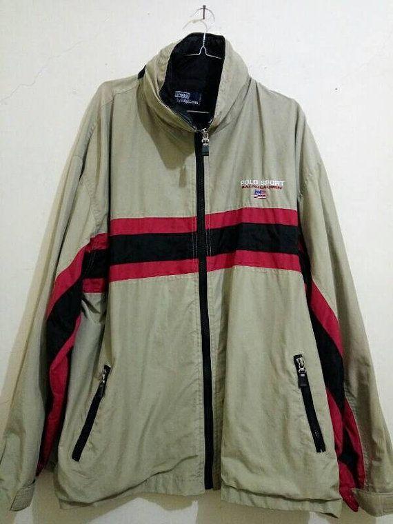 Vintage Polo Sport Ralph Lauren Windbreaker Jacket Moccasin