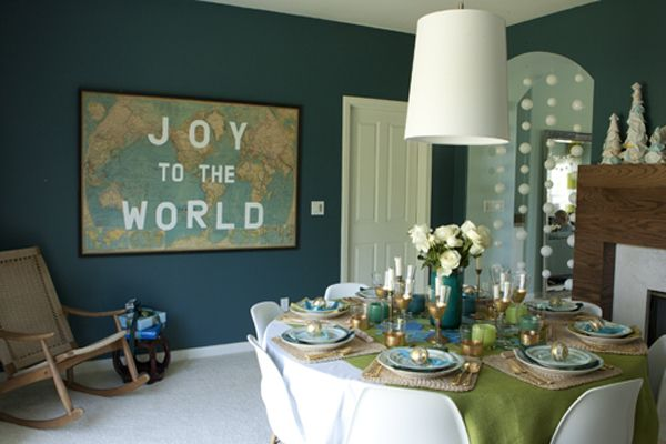 joy to the world map...love this: Decor, Wall Colors, Dining Room, Diy Art, Joy, Vintage Maps, Christmas, World Maps, The World