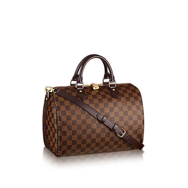 Speedy Bandoulière 30 +Damier Ebene Canvas - Handbags   LOUIS VUITTON