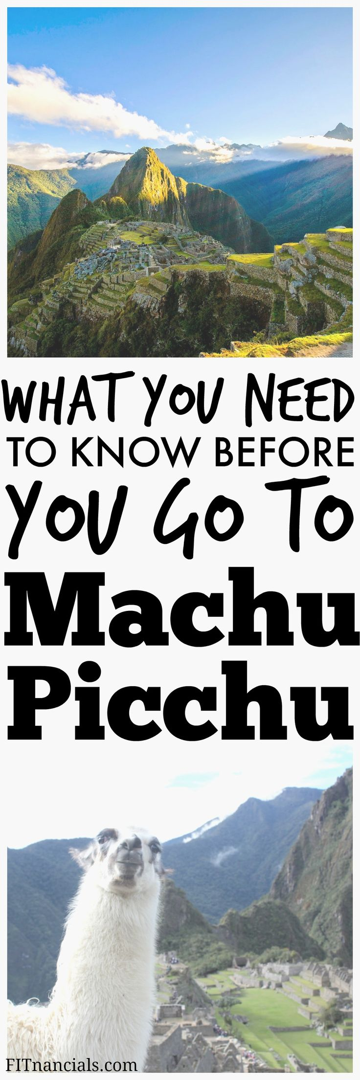 Find out what you need to know before you go to Machu Picchu. This is a great list!