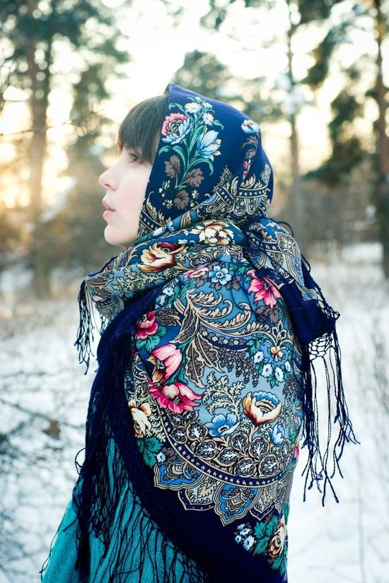 Russian Pavlovsky Posad shawl. #Russian #shawl