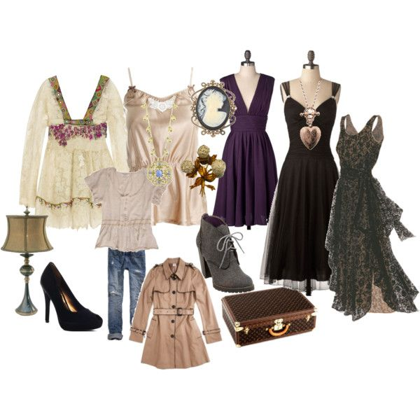 Ghost Whisperer wardrobe by gypsymoon on Polyvore featuring polyvore, fashion, style, Hotel Particulier, One Vintage, C. Luce, Monsoon, American Eagle Outfitters, Jessica Simpson and Forever 21