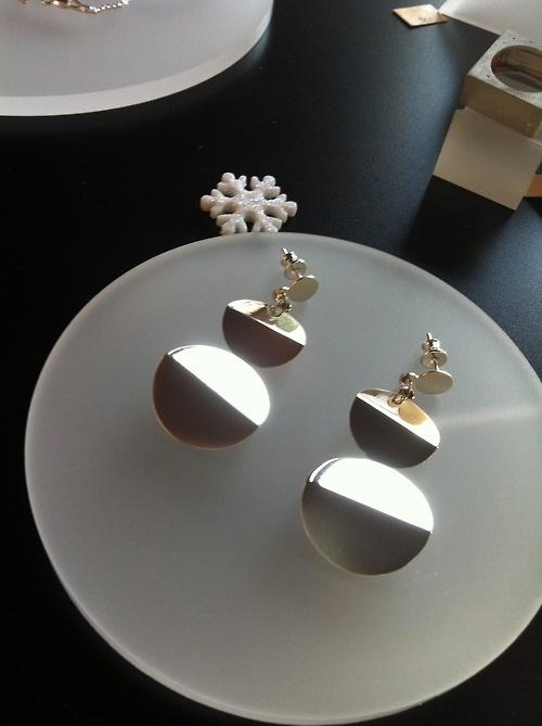 Marche de Noel - Sterling Silver Earrings - New