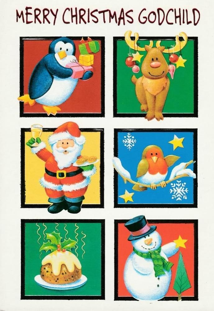 Details about Christmas Greeting Card, Merry Christmas Godchild in