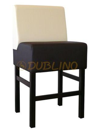 Dublino System/22/60 - Barová lavice na bukových nohách v různých barvách moření.