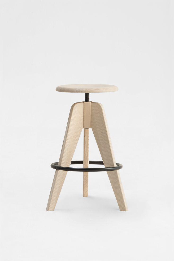Sipa sgabello Tommy in legno per la casa, hotel, bar, ristoranti, alberghi, interior design e contra