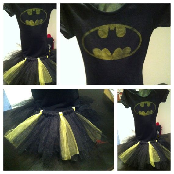 @Melanie VanRy  Make this!!!  A perfectly simple costume and Shawn can be another super hero!! :) Adult Batman Tutu Costume for Halloween.