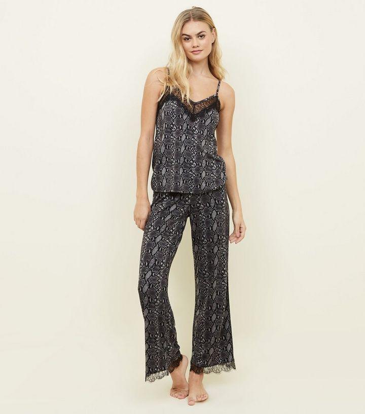 Grey Snake Print Pyjama Trousers in 2018  56698d254