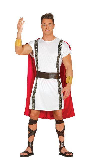 Vista principal del disfraz de soldado romano en talla única