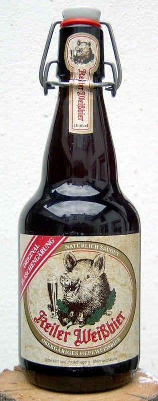 Cerveja Keiler Weiss Bier Dunkel, estilo German Dunkelweizen, produzida por Keiler Bier, Alemanha. 4.9% ABV de álcool.