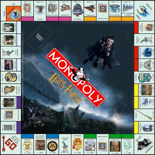 Potter Frenchy Party - Une fête chez Harry Potter: Travaux pratiques : le jeu Monopoly Harry Potter