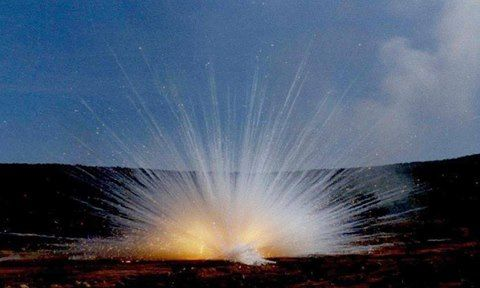 81mm Mortar Bomb White Phosphorus, bursting on the target. Evil stuff but extremely effective. Photo:  WE SERVED WITH PRIDE FB PAGE