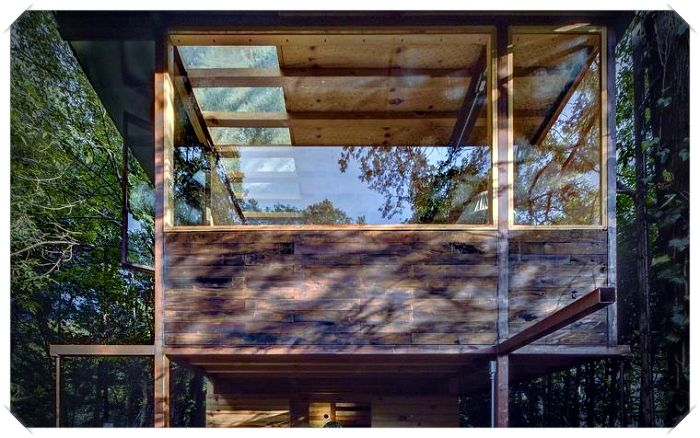 Casa flutuante localizada na Cidade do México por Talleresque Architects   – Wooden Facades