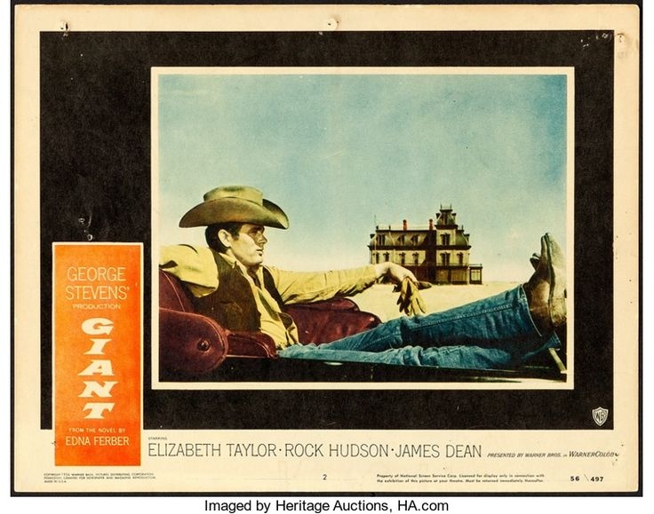 "Movie Posters:Drama, Giant (Warner Brothers, 1956). Lobby Card (11"" X 14"").. ..."