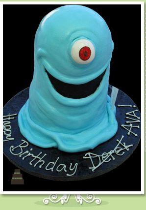 Monsters vs. Aliens inspired birthday cake :)