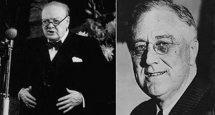 On this day in history (14th Auggust 1941) US President Franklin Roosevelt and British Prime Minister Winston Churchill issue the joint declaration that later becomes known as the Atlantic Charter
