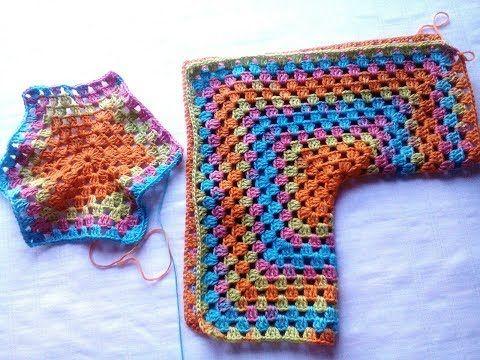 Chaqueta Crochet Tejida con Dos Hexágonos / Tutorial | Crochet y Dos agujas - Patrones de tejido