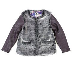 Make a statement this winter with Sudo's gorgeous Spoilt For Choice Jacket. Features faux fur with faux leather arms. Zip-up front. #winterfashion #girls