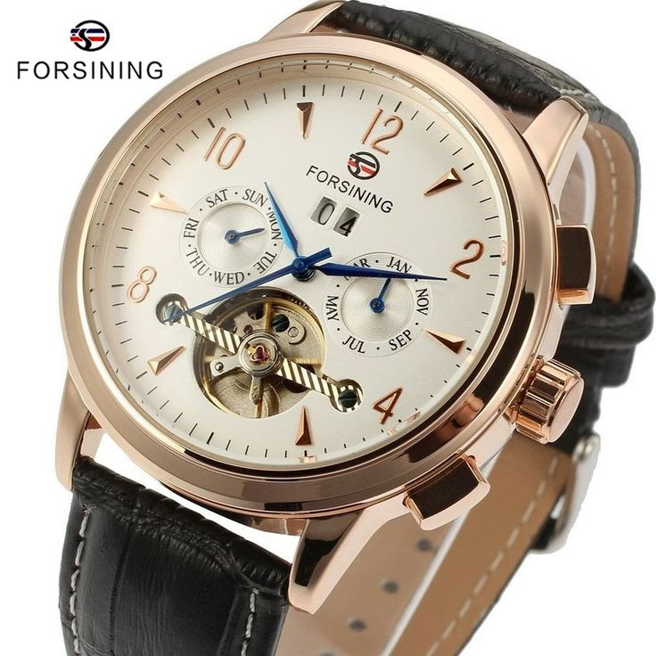 Find More Mechanical Watches Information about 3 Colors FORSINING Brand Top Luxury Men Tourbillon Watches Rose Gold Case Leather Mens Automatic Mechanical Watch reloj hombre,High Quality strap keychain,China strap on dildo for women Suppliers, Cheap strap head from YIKOO Watches Store on Aliexpress.com