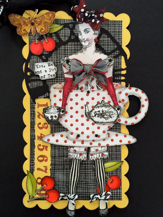 Darling paper doll construction by Paris Pluie using Character Constructions art stamps, Paris Flea collection. LOVE this!