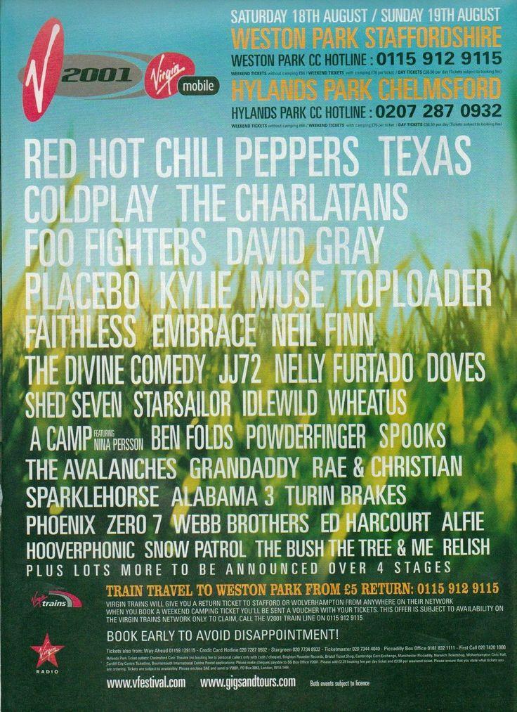 V Festival 2001 Poster - V2001