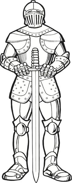 "Print this Knight & use as an illustration for the ""Armor of Yahweh"" (Eph 6:10-18). Read the verses and write them on the picture with arrows pointing to the parts of armor; Color! :)"