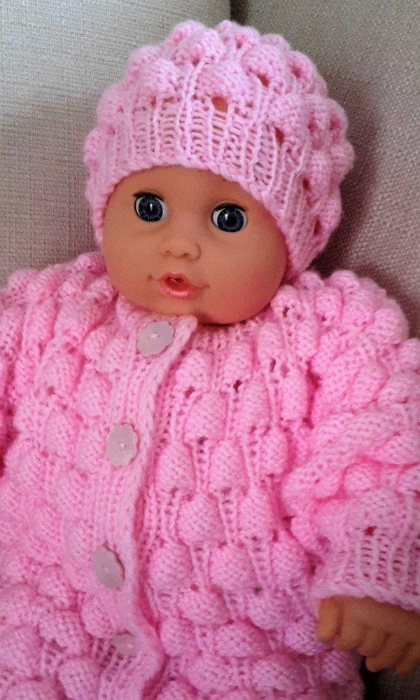 """bebek ceket ve cap için Örgü talimatları """"Magic"""""""