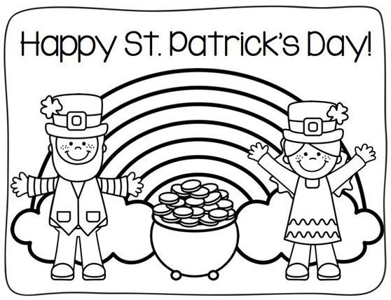 St Patrick S Day Coloring Pages For Toddlers