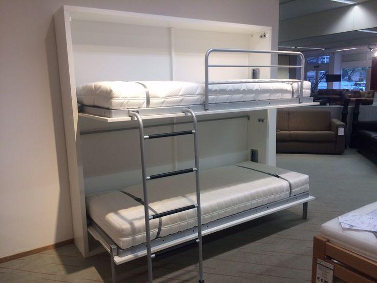 wall mounted drop down bed | WINKEL IN AMSTERDAM, BREDA EN DEN HAAG | Bedkast showroom | Bedkast ...