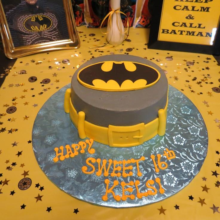 Sweet 16 Batman cake