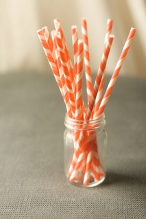 shower - adorable straws for peach iced tea