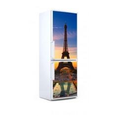 Bonito vinilo de nevera de la Torre Eiffel. Dale un toque especial a tu cocina con nuestros vinilos decorativos. Rápidos de colocar y baratos.