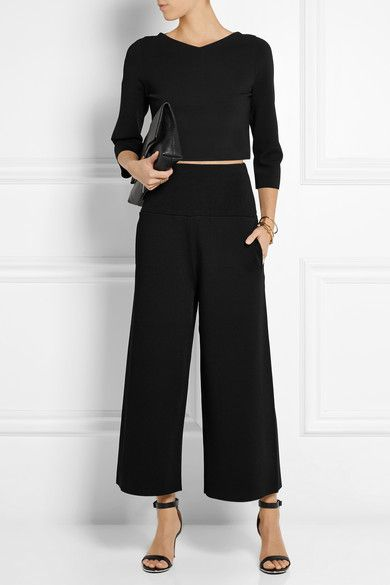 Schwarzer Jersey Ohne Verschluss 83% Rayon, 17% Polyester; Taillenbund: 74% Rayon, 13% Polyamid, 11% Polyester, 2% Elastan Trockenreinigung