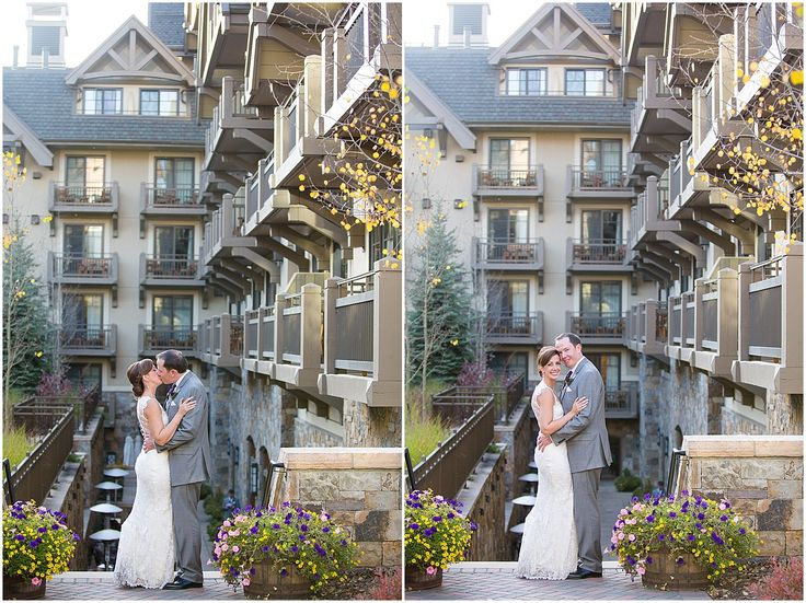 The Wedding Couple Pose Together For Portraits At Their Vail Four Seasons