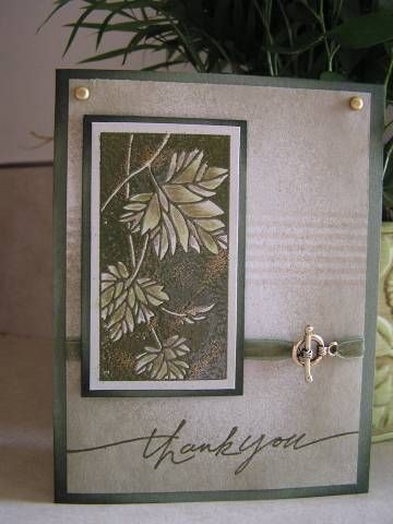 Botanical Thank You by hotflash - Cards and Paper Crafts at Splitcoaststampers