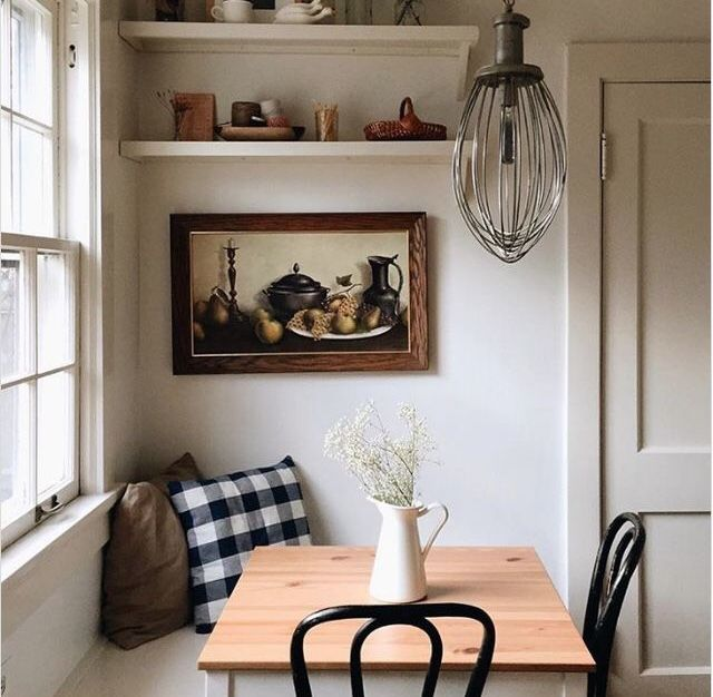 Quaint breakfast nook to make your dreamy farmhouse kitchen all the more cozy
