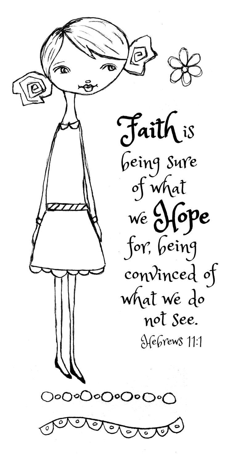 God's Girls Acrylic Stamps- Faith
